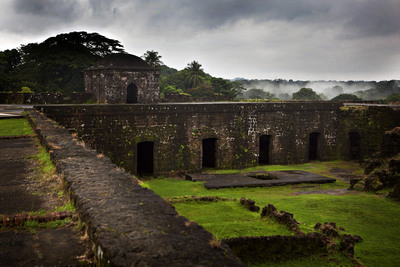 In 1671, in an effort to capture Panama City and loosen the stronghold of Spain in the Caribbean, Captain Henry Morgan set out to take the Castillo de San Lorenzo, a Spanish fort on the cliff overlooking the entrance to the Chagres River, the only water passageway between the Caribbean and the capital city. Although his men ultimately prevailed, Morgan lost five ships to the rough seas and shallow reef surrounding the fort. Photo Credit: Captain Morgan / Chris Bickford