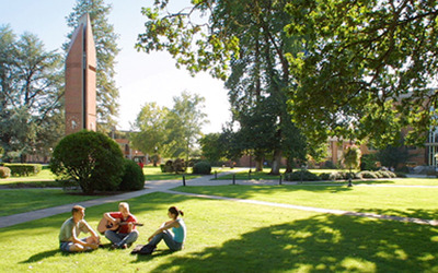 George Fox University, located in Newberg, Ore., invites prospective undergraduate students to its picturesque campus April 4-5.  (PRNewsFoto/George Fox University)