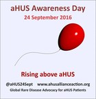 Rising Above aHUS in 2016 (PRNewsFoto/aHUS Alliance)