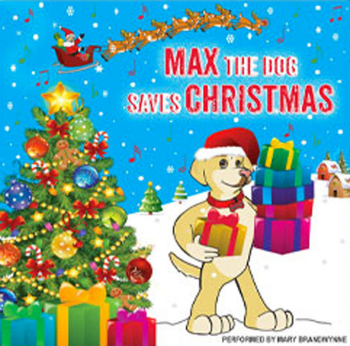 """Read With Max, LLC announces the release of Max's new holiday Christmas song """"Max The Dog Saves Christmas"""" from his recently released children's CD """"Sing With Max."""" (PRNewsFoto/Read With Max, LLC)"""