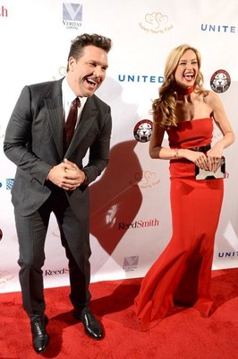 Dane Cook and Petra Nemcova at the Fight For Education gala 2016 (PRNewsFoto/Happy Hearts Fund)