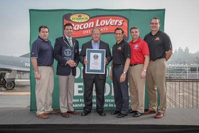 Bacon Lovers Deli Meats by Eckrich Establishes New GUINNESS WORLD RECORDS(R) Achievement.  (PRNewsFoto/Eckrich)