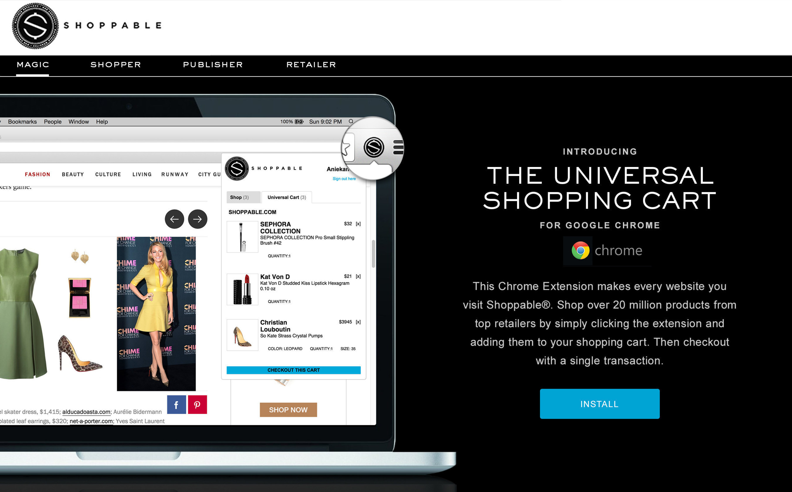 Shoppable: The Universal Shopping Cart(R) now available on Google Chrome