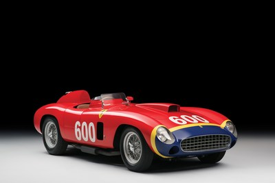 1956 Ferrari 290 MM Spider sold by RM Sotheby's was the most expensive car sold at Public Auction in 2015.  (Photo credit:  Tim Scott Fluid Images courtesy of RM Sotheby's)