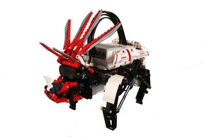 A dinosaur bonus model created by a LEGO(R) MINDSTORMS(R) EV3 Expert Panel member.  (PRNewsFoto/LEGO MINDSTORMS)