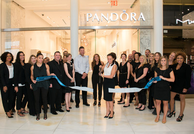 Laurie McDonald, General Manager, PANDORA Jewelry, U.S. Cuts Ribbon in Honor of PANDORA World Trade Center Grand Opening