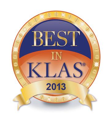 2013 Best in KLAS.  (PRNewsFoto/Royal Philips)