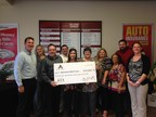 ACE employees present their donation to the American Red Cross. (PRNewsFoto/ACE Cash Express, Inc.)