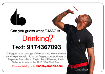 What's T-Mac Drinking?  (PRNewsFoto/Evolution of Hydration)