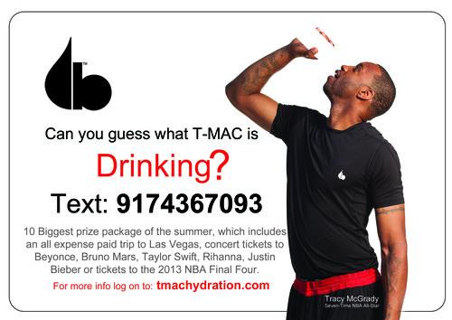 What's T-Mac Drinking?  (PRNewsFoto/Evolution of Hydration)
