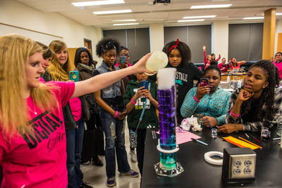 Young women learn about science, technology and cyber security at the annual Digital Divas event at Eastern Michigan University.
