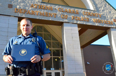 The National Law Enforcement Officers Memorial Fund has selected Senior Police Officer Daniel Whitney, of the Athens-Clarke County (GA) Police Department, as the recipient of its Officer of the Month Award for November 2016.