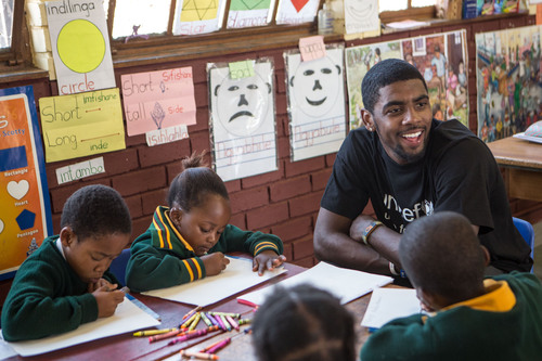 NBA All-Star Kyrie Irving Visits Schools in South Africa with UNICEF.  (PRNewsFoto/U.S. Fund for UNICEF)