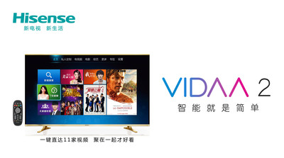 Hisense Takes The Lead In Entering The Smart TV 2.0 Era With Convergence And Social Features. (PRNewsFoto/Hisense Group)