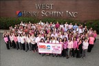 Team Schein Members help raise awareness of the importance of early detection of breast cancer through Henry Schein's Think Pink, Practice Pink cause-related marketing program
