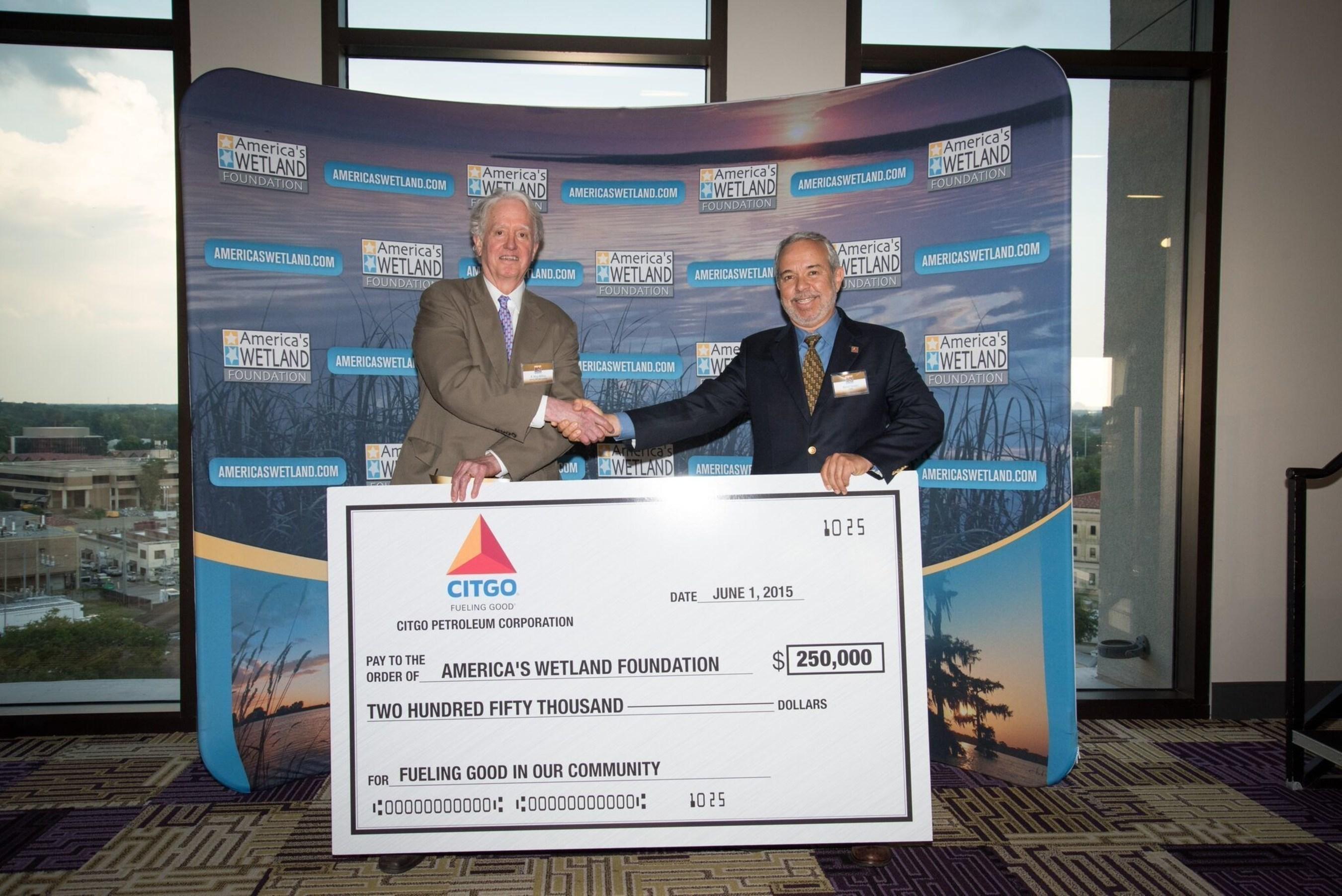 CITGO Supports America's WETLAND Foundation with Lafourche Parish Shoreline Restoration