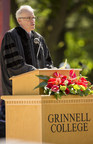 Bill McKibben speaks during the 169th Commencement Ceremony at Grinnell College in Grinnell, Iowa, May 18, 2015. McKibben was awarded a Doctor of Humane Letters during the commencement. (Photo by Justin Hayworth/Grinnell College)