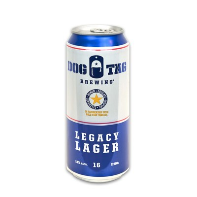 Dog Tag Brewing Legacy Lager Front