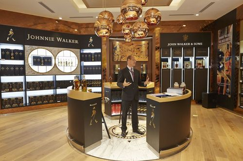 Doug Bagley, Managing Director Diageo Global Travel and Middle East, speaks at the opening of the JOHNNIE ...