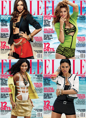 Victoria's Secret Bombshell Beauties Grace the Cover of ELLE's October Issue