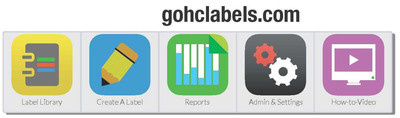 GoHCLabels.com is an instantly accessible FREE online labeling program that allows multiple users from a single facility share labels for quicker, easier, more efficient online retrieval.  (PRNewsFoto/Health Care Logistics)