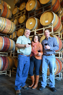 Maryhill Winery owners Craig and Vicki Leuthold with winemaker Richard Batchelor. Photo credit Maryhill Winery.