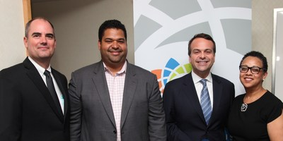 (L-R) Jim Holloway, General Manager of Supplier Relations & Systems, Toyota, and Chair of Corporate Plus®; Chris Genteel, Head of Diversity Markets and Supplier Diversity, Google;  Jorge A. Plasencia, Chairman and CEO, Republica; Joset Wright-Lacy, President, NMSDC.