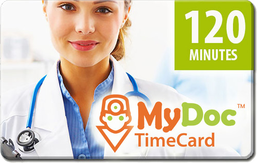 MyDoc 120 Minute TimeCard. (PRNewsFoto/MyDocTV.com, Inc.) (PRNewsFoto/MYDOCTV.COM, INC.)