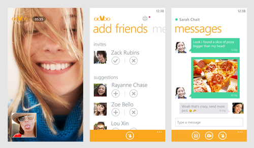 Cross-platform HD video chat app ooVoo is now available on Windows Phone. (PRNewsFoto/ooVoo)
