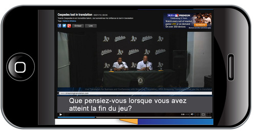 Interviews and sportscasting in dozens of languages at the same time. (PRNewsFoto/@International Services) ...