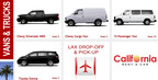 Vans & Trucks California Rent A Car. (PRNewsFoto/California Rent A Car)