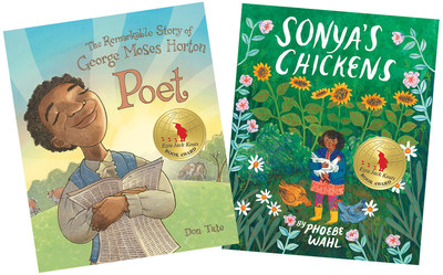 The 2016 Ezra Jack Keats Book Award Winners are: for New Writer, Don Tate for Poet: The Remarkable Story of George Moses Horton (Peachtree Publishers), and for New Illustrator, Phoebe Wahl for Sonya's Chickens (Tundra Books). Now in its 30th year, the Ezra Jack Keats Book Award has fostered the careers of such talented artists as Angela Johnson, Deborah Wiles and Bryan Collier, all of whom, in the spirit of Keats, portray the universal qualities of childhood and the multicultural nature of our world.