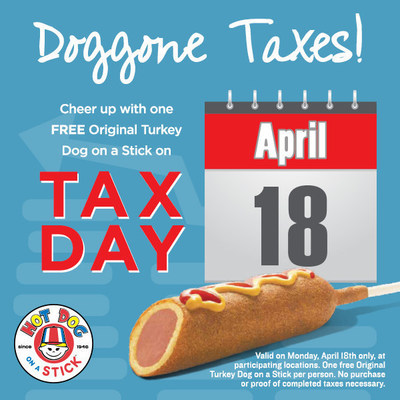 Tax Day freebie at Hot Dog on a Stick