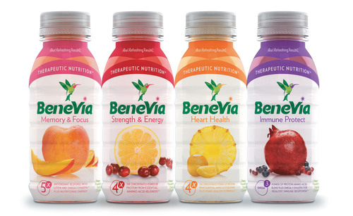Fruit-based protein beverage BeneVia(R) comes in four varieties that address common health conditions faced by ...