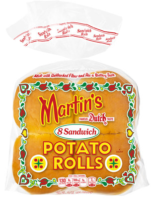 The Martin's Famous Sandwich Potato Roll is the number one branded hamburger roll in America!