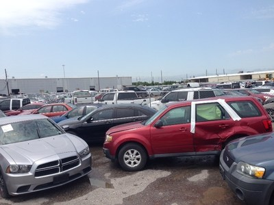 Flood-damaged cars are already going through the salvage process by law enforcement, the National Insurance Crime Bureau and its member companies to protect the public.