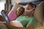 Patient using DreamWear sleep apnea mask and DreamMapper self-management solution to stay engaged with their sleep therapy.