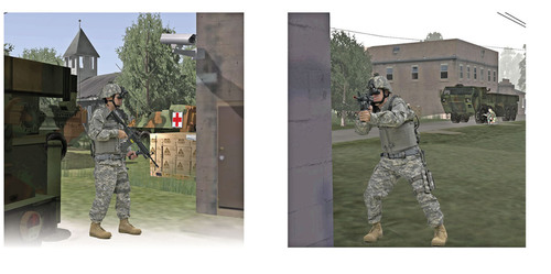 Quantum3D's ExpeditionDI is the industry's first wearable and fully-immersive close combat infantry simulator training platform allowing U.S. soldiers, leaders and units to train in a virtual environment.  (PRNewsFoto/Quantum3D, Inc.)