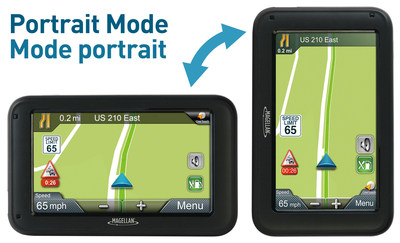 Magellan RoadMate 5250T-LM GPS device comes with three free years of PhantomALERT and provides Portrait & Landscape Viewing Mode