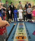 Former Governors Ed Rendell and Mark Schweiker Rally for Pre-K For PA with NW PA Pre-K for PA Co-chairs Ron DiNicola and Nick Scott Jr. (PRNewsFoto/Pre-K for PA Campaign)