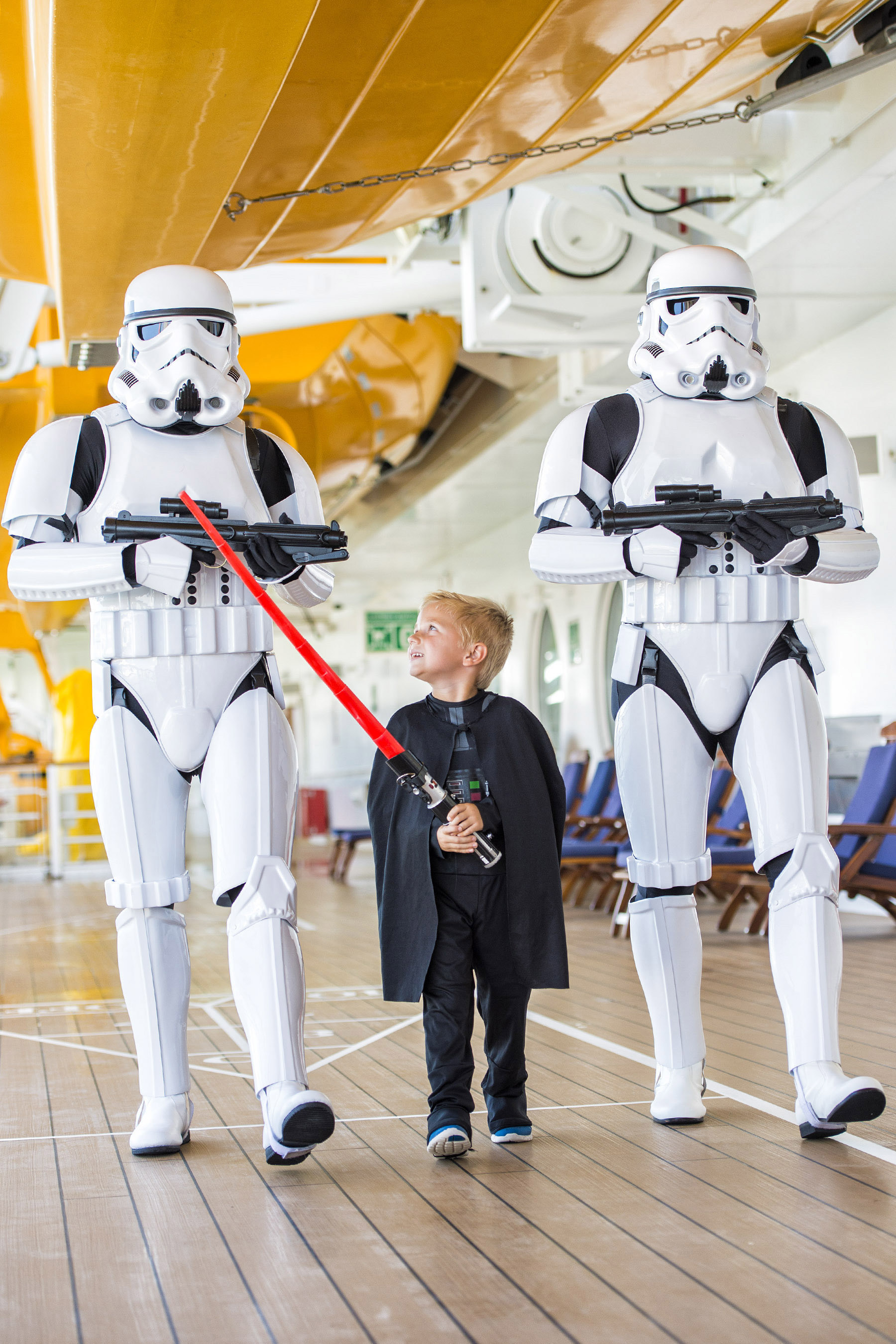 Star Wars Day at Sea Returns in 2017--Returning in early 2017, Disney Cruise Line guests can explore a galaxy far, far away during Star Wars Day at Sea, a day-long celebration of intergalactic proportions with iconic characters and out-of-this-world entertainment. New in 2017, the Disney Fantasy special sailings expand to both eastern and western Caribbean itineraries with a total of 15 cruises. (Matt Stroshane, Photographer)