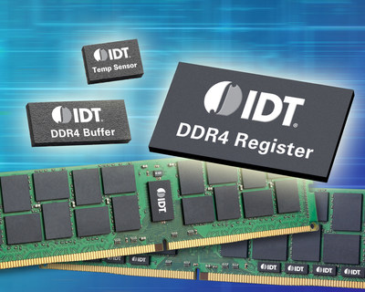 IDT Memory Interface Devices Qualified for DDR4 Enterprise DIMMs on Intel Xeon Processor E5-2600 v4 Product Family-Based Systems.