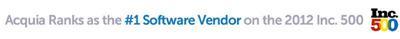 Acquia, #1 Software Company on Inc. 500, Powers Growth with Marketo.  (PRNewsFoto/Marketo)