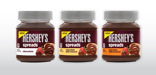 HERSHEY MAKES EVERYTHING MORE DELICIOUS WITH NEW LINE OF SWEET, CREAMY HERSHEY'S SPREADS.  (PRNewsFoto/The Hershey Company)