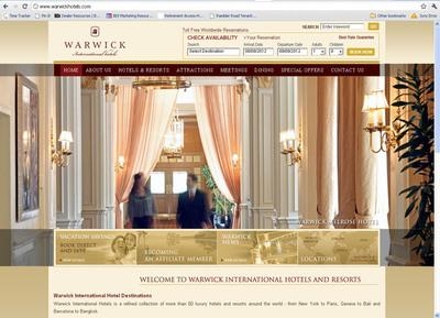 Warwick International Hotels Wins Best in Class for New Website