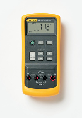 For technicians who don't want the complexity of multifunction test tools yet need highly accurate temperature calibration, the Fluke(R) 712B RTD and 714B Thermocouple Temperature Calibrators allow instrument, process, and plant maintenance technicians to quickly and easily test process temperature instrumentation.  (PRNewsFoto/Fluke Corporation)