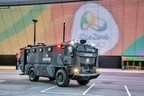Plasan's Guarder armored vehicle helping to secure the 2016 Rio Olympics.  It is equipped with advanced multi-functional technological capabilities to keep the Rio Olympics safe. (PRNewsFoto/Plasan)