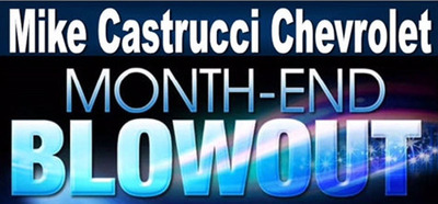 Buy or lease a new Chevy at great prices with Mike Castrucci Chevrolet's Month-End Blowout Sale.  (PRNewsFoto/Mike Castrucci Chevrolet)