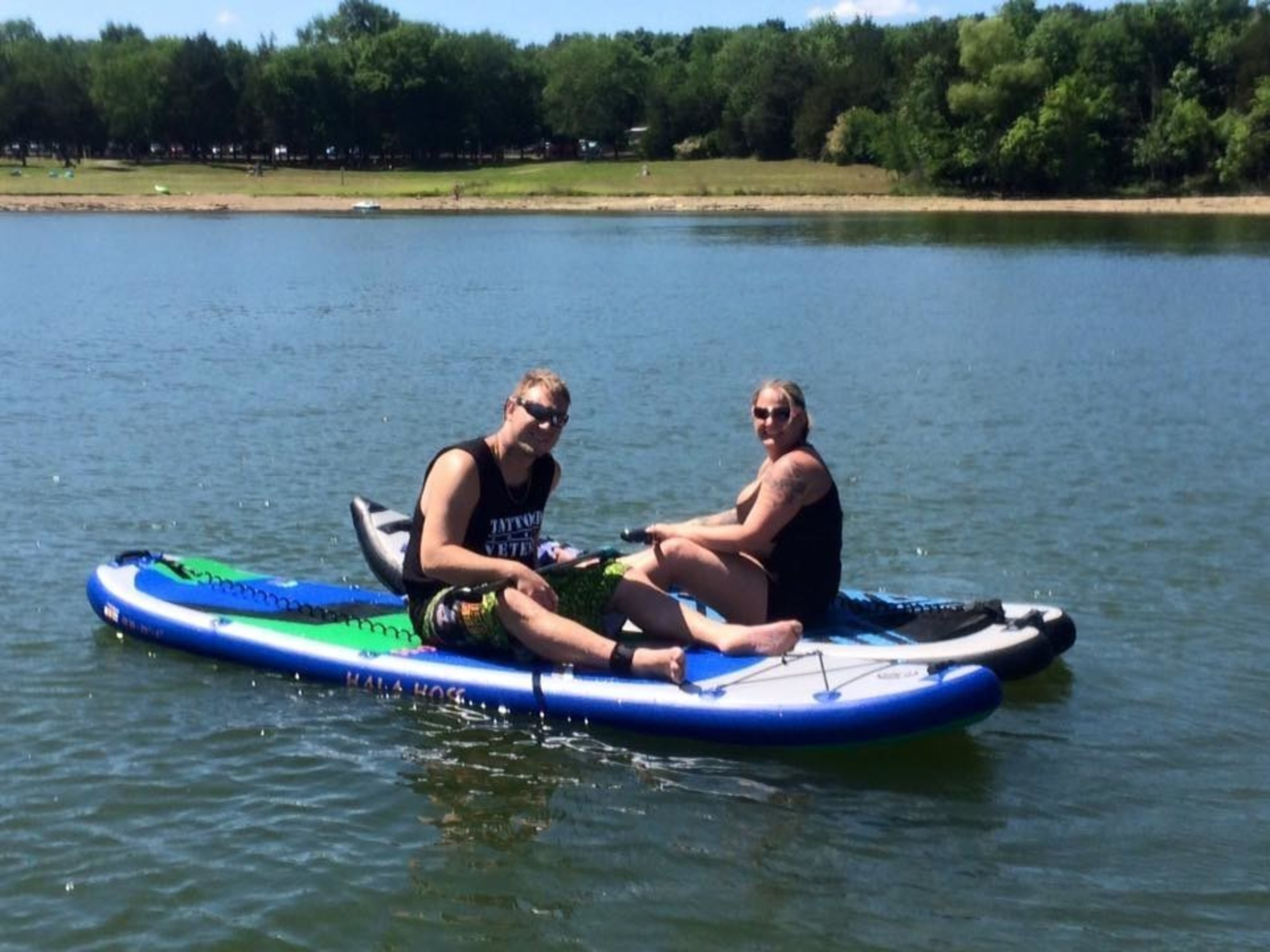 WWP hosts warriors for paddle boarding adventure.