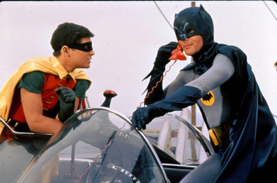 Warner Bros. Consumer Products is bringing the classic pop-culture phenomenon, Batman Classic TV Series, back to the licensing world. Pictured: Batman and Robin with the Bat Phone.  (PRNewsFoto/Warner Bros. Consumer Products)